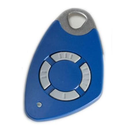 Télécommande INTRATONE 4 canaux HF + badge incorporé coloris bleu