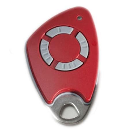 Télécommande INTRATONE 4 canaux HF + badge incorporé coloris rouge
